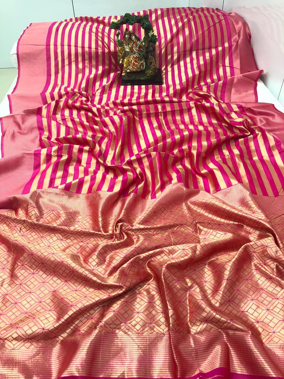 Thankar Gajpriya Vol 5 Banarasi Silk Wedding Wear Saree Catalog at Wholesale rate