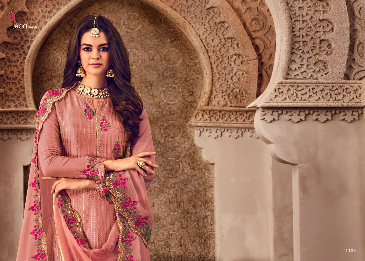 Eba Lifestyle Mount Black Vol 4 Designer Semi Pure Heavy Embroidery Work Salwar Suit Catalog at Wholesale rate