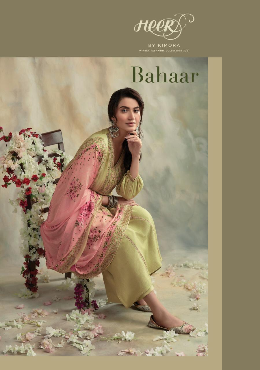 Kimora Heer Bahhar Stylish Supn Wool With Embroidery Work Salwar Suit Catalog at Wholesale rate