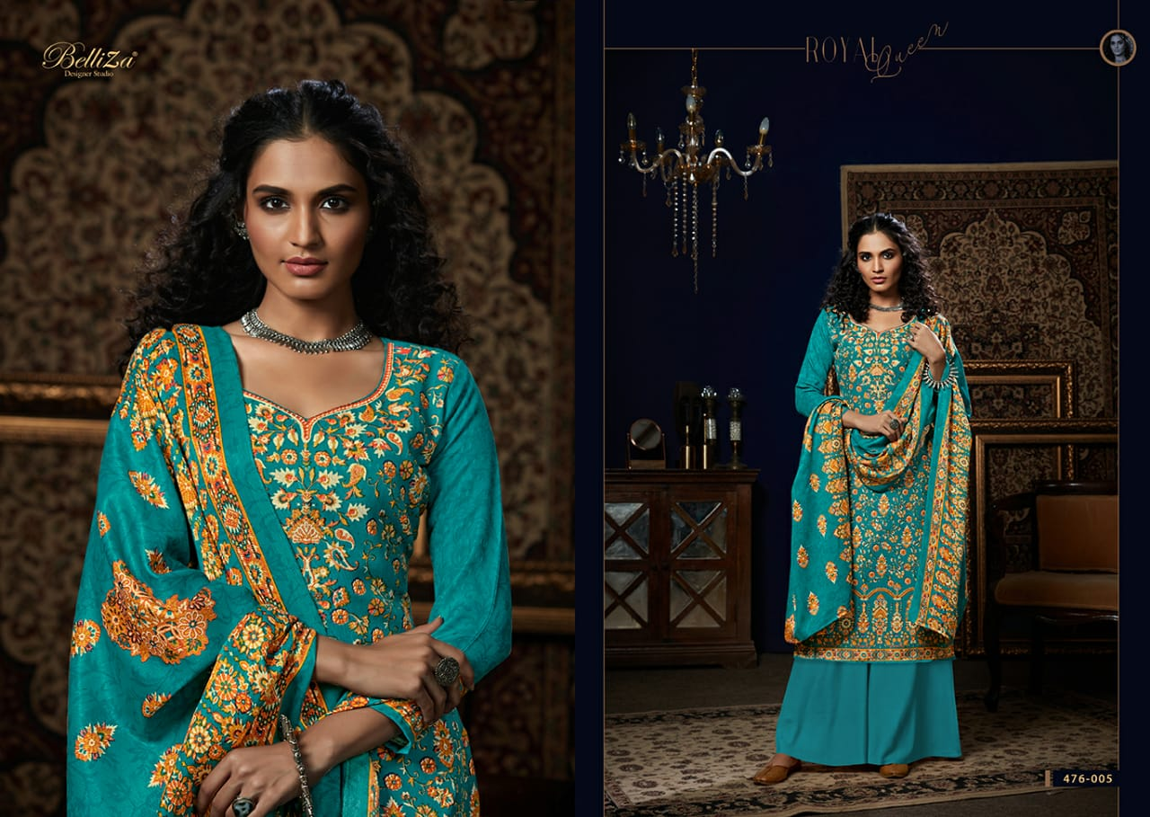 Belliza Designer Studio Aisha Vol 3 Stylish Pure Pashmina Digital Print Winter Salwar Suit Catalog at Wholesale rate