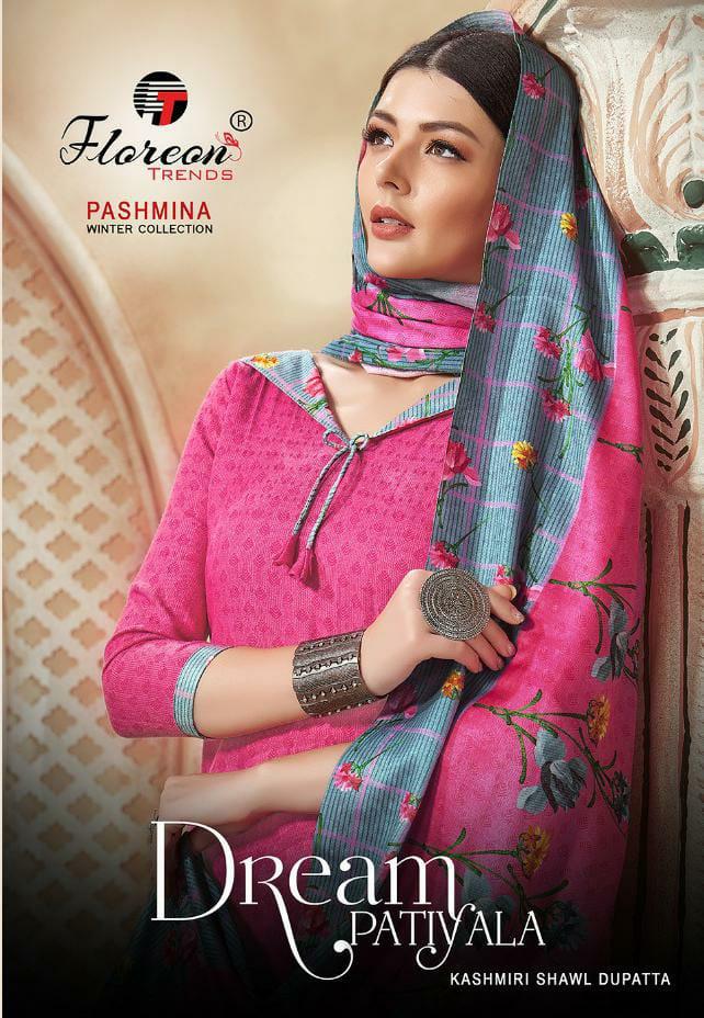 Floreon Trends Dream Patiyala Pure Dobby Pashmina Print Winter Salwar Suit Catalog at Wholesale rate