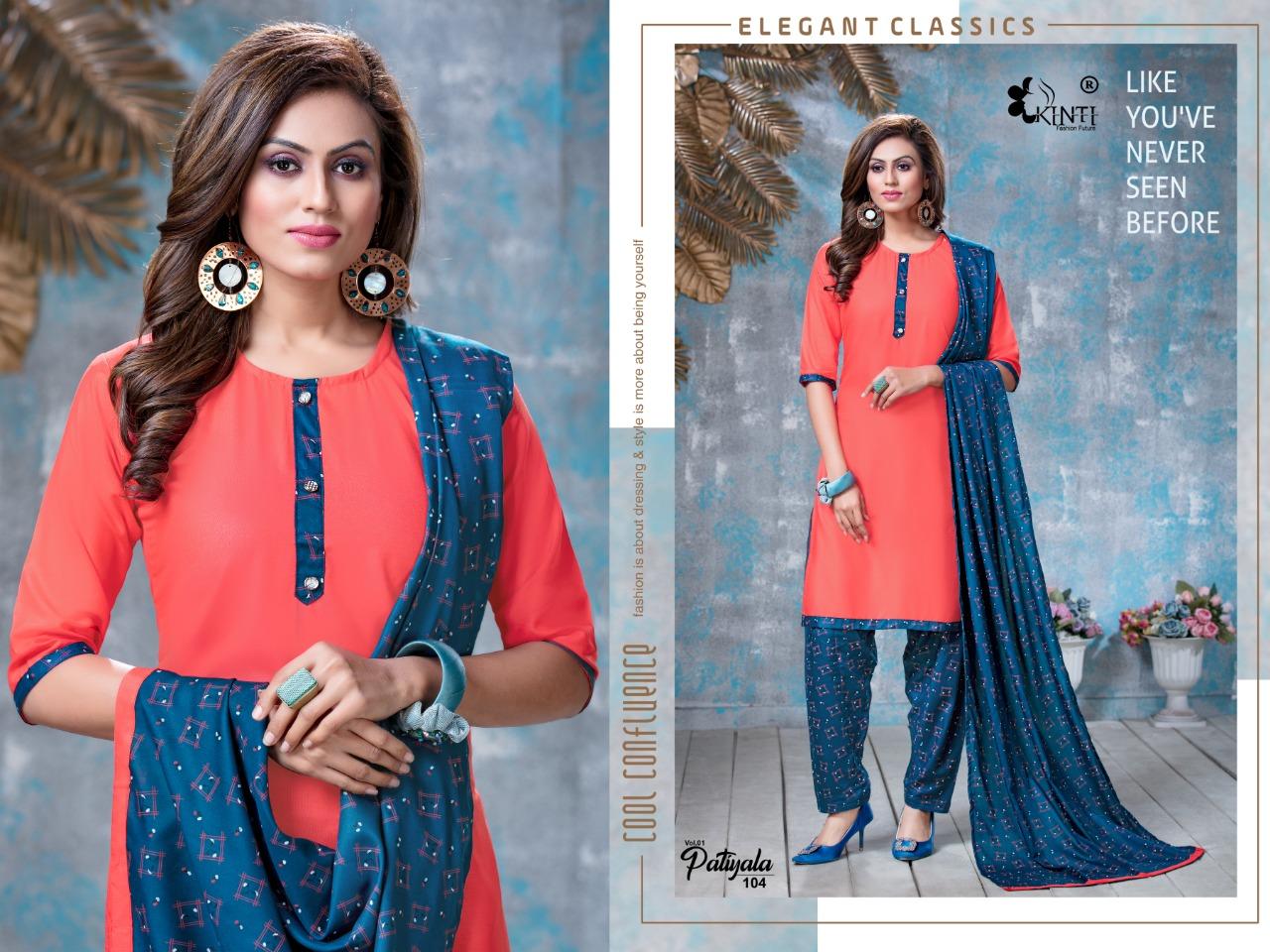 Kinti Patiala Rayon Print Festive Wear Salwar Suit Catalog at Wholesale rate