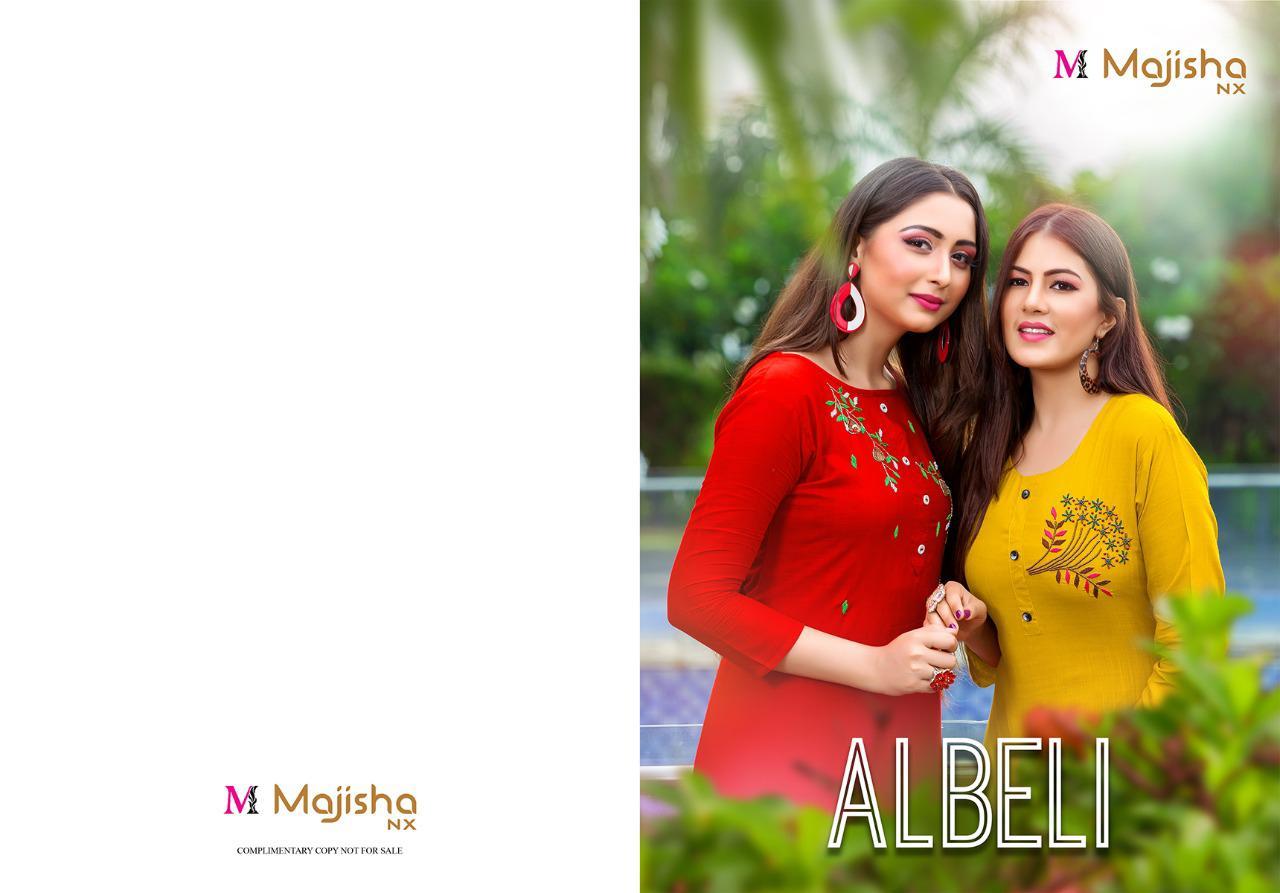 Majisha Albeli  14 kg Rayon Slub With Handwork Festive Wear Kurti Catalog at Wholesale rate