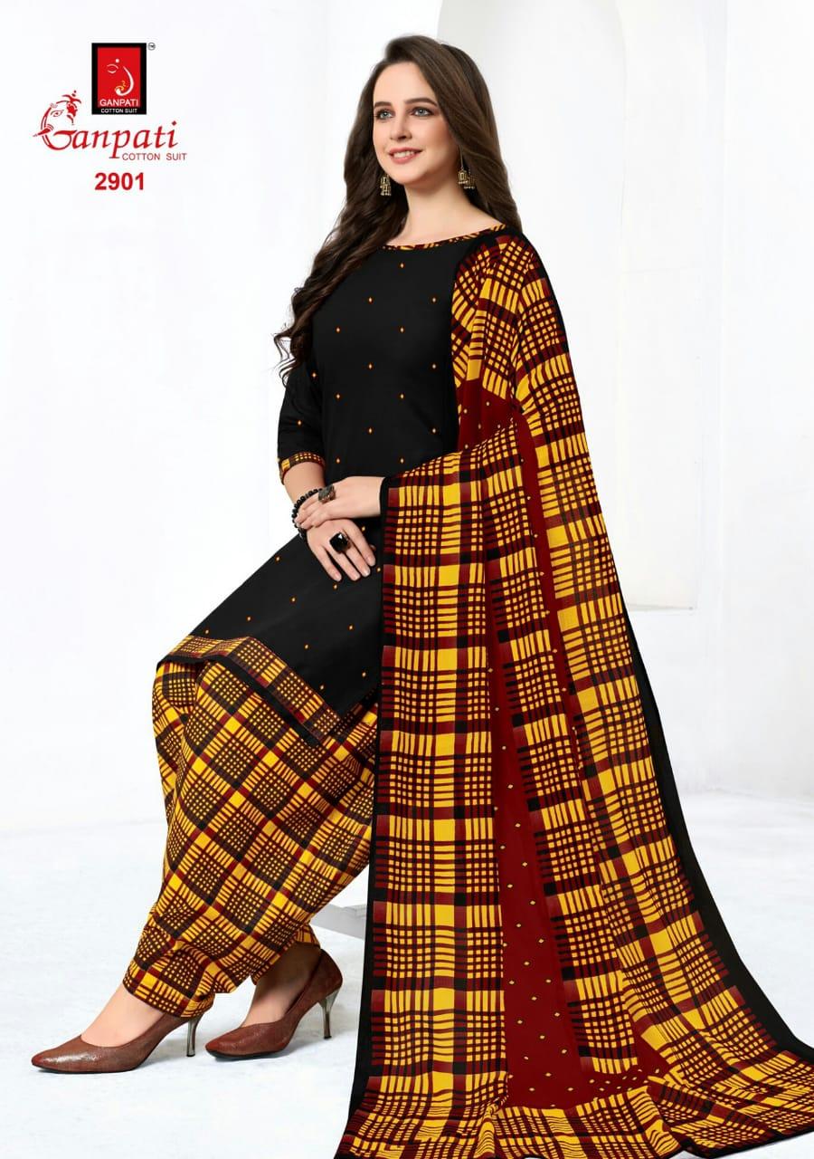 Ganpati Patiyala House Vol 7 Cotton Casual Wear Patiala Suit Catalog at Wholesale rate