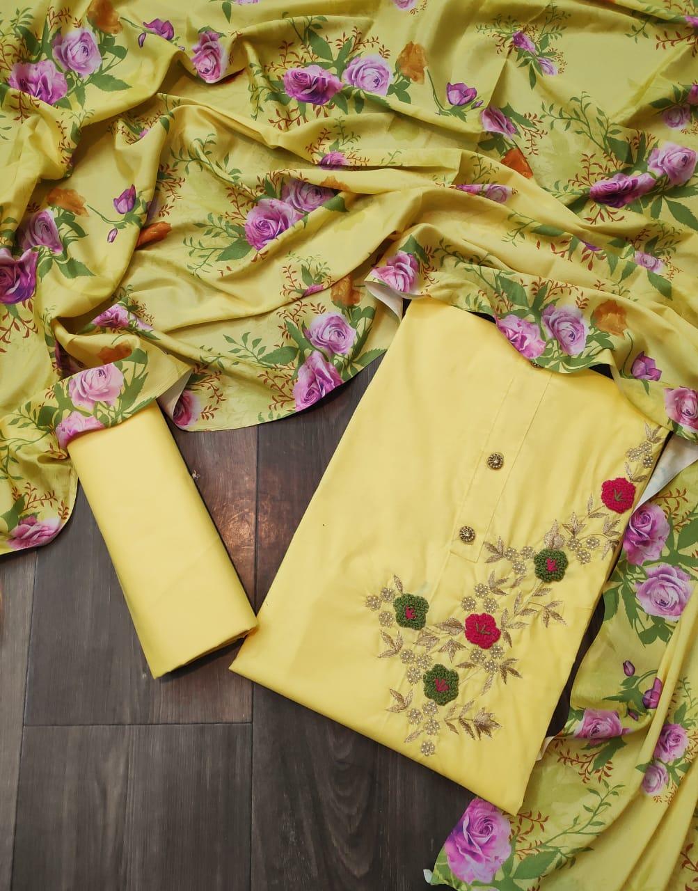 Thankar Exclusive Cotton Festive Wear Dress Material Suit  Catalog at Wholesale rate