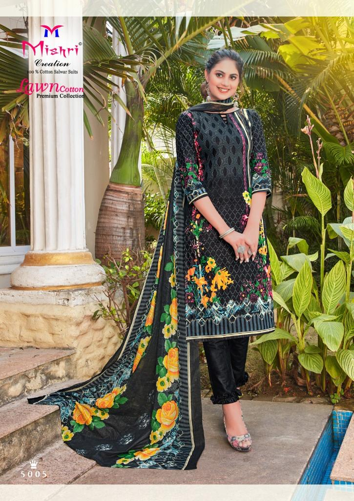 Mishri Creation Lawn Cotton Vol 5 Stylish Lawn Cotton Casual Wear Salwar Suit Catalog at Wholesale rate