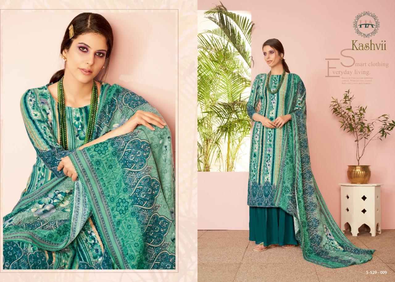 Harshit Fashion Kashvi Pure Wool Pashmina Print Winter Salwar Suit Catalog at Wholesale rate
