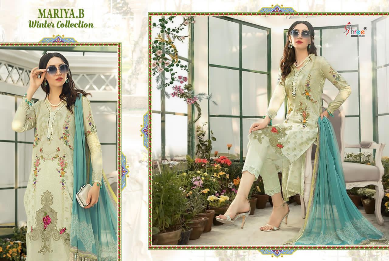 Maria  B Winter Collection Pure Pashmina Print Pakistani Salwar Suit Catalog at Wholesale rate