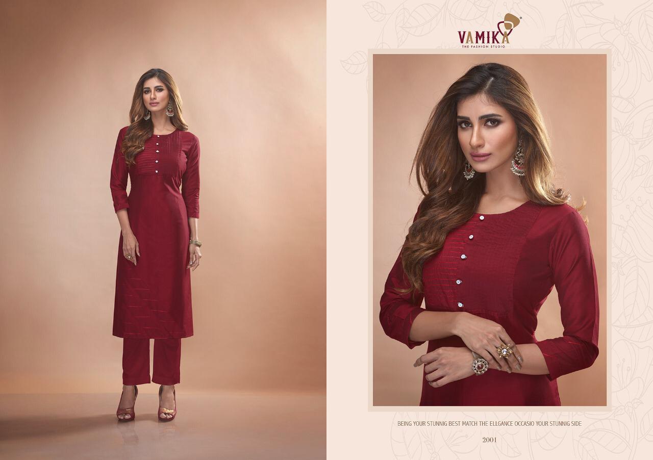 Vamika Claire Vol - 2 Pure Viscose Two Tone Silk Kurti Catalog at Wholesale rate