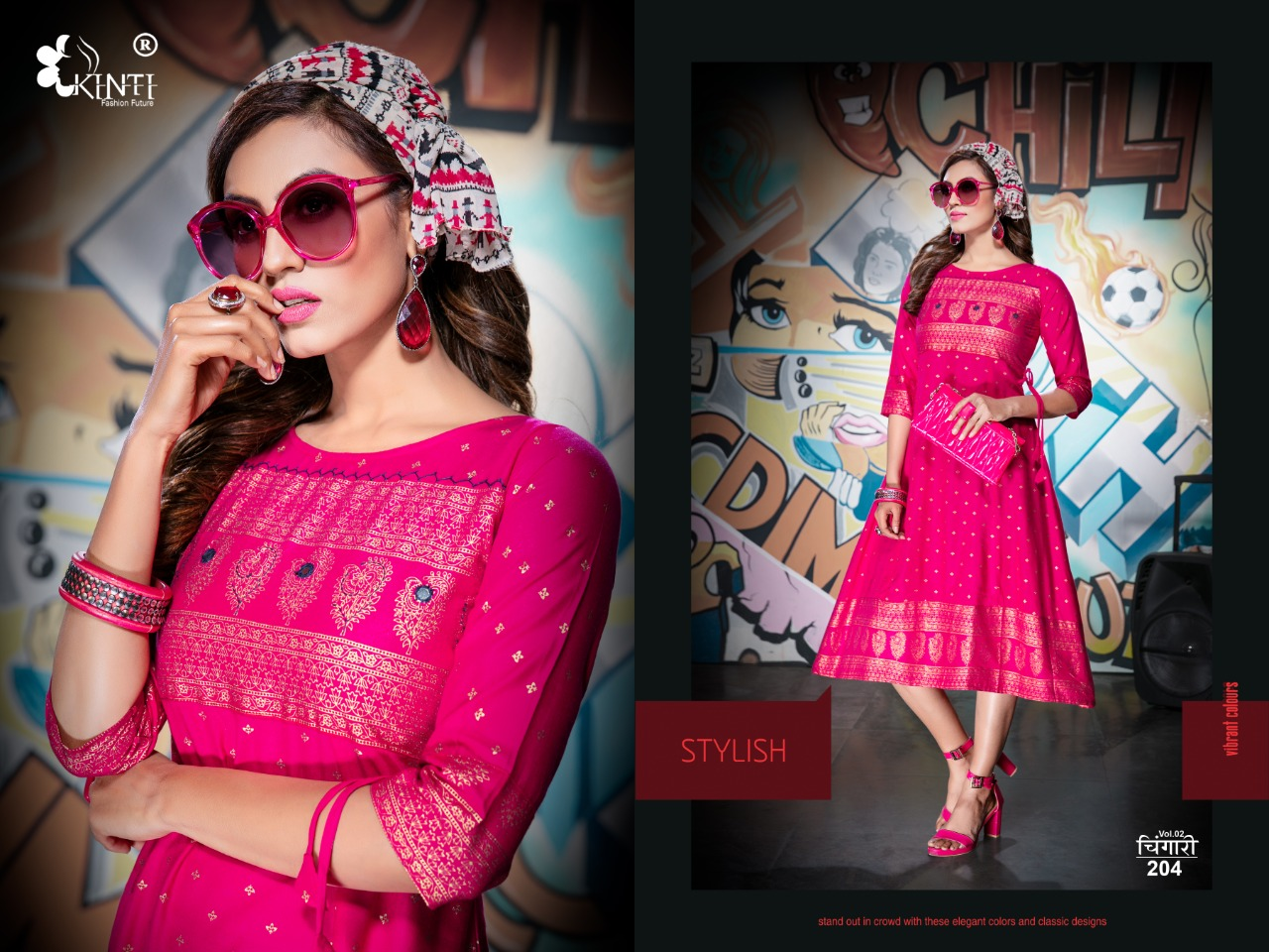 Kinti Chingari Vol 2 Stylish Rayon 14 kg Casual wear Kurti Catalog at Wholesale rate