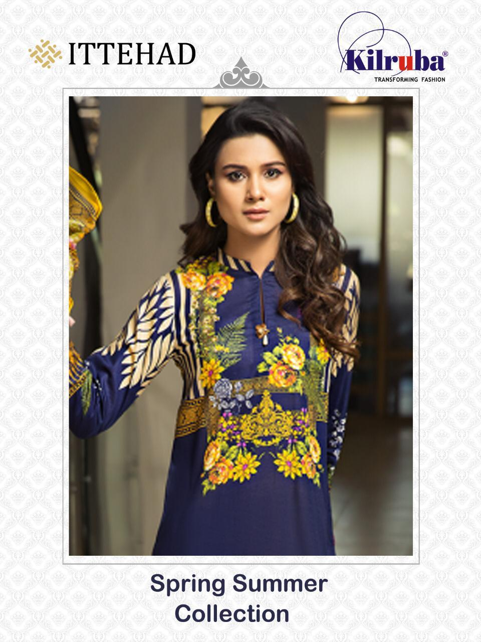 Kilruba Ittehad Stylish Cotton Digital Print Pakistani Suit Catalog at Wholesale rate