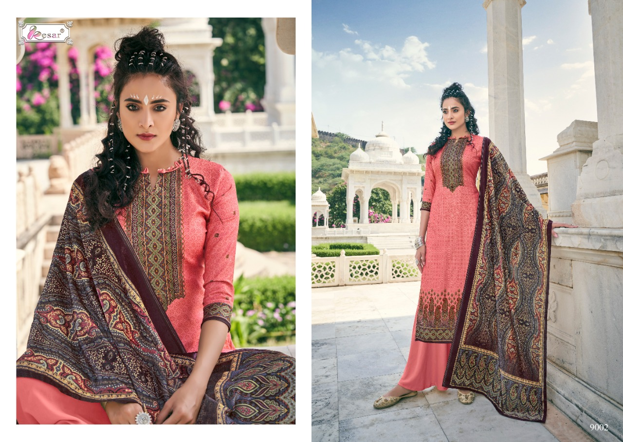 Hafsha  6 Blossom Dresses Stylish Heavy Pashmina Digital Print Winter Suit Catalog at Wholesale rate