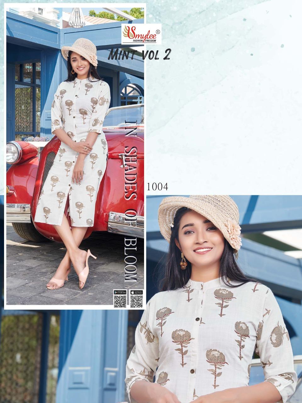 Smylee Mint Vol 2 Designer Rayon Print  Kurti Catalog at Wholesale rate