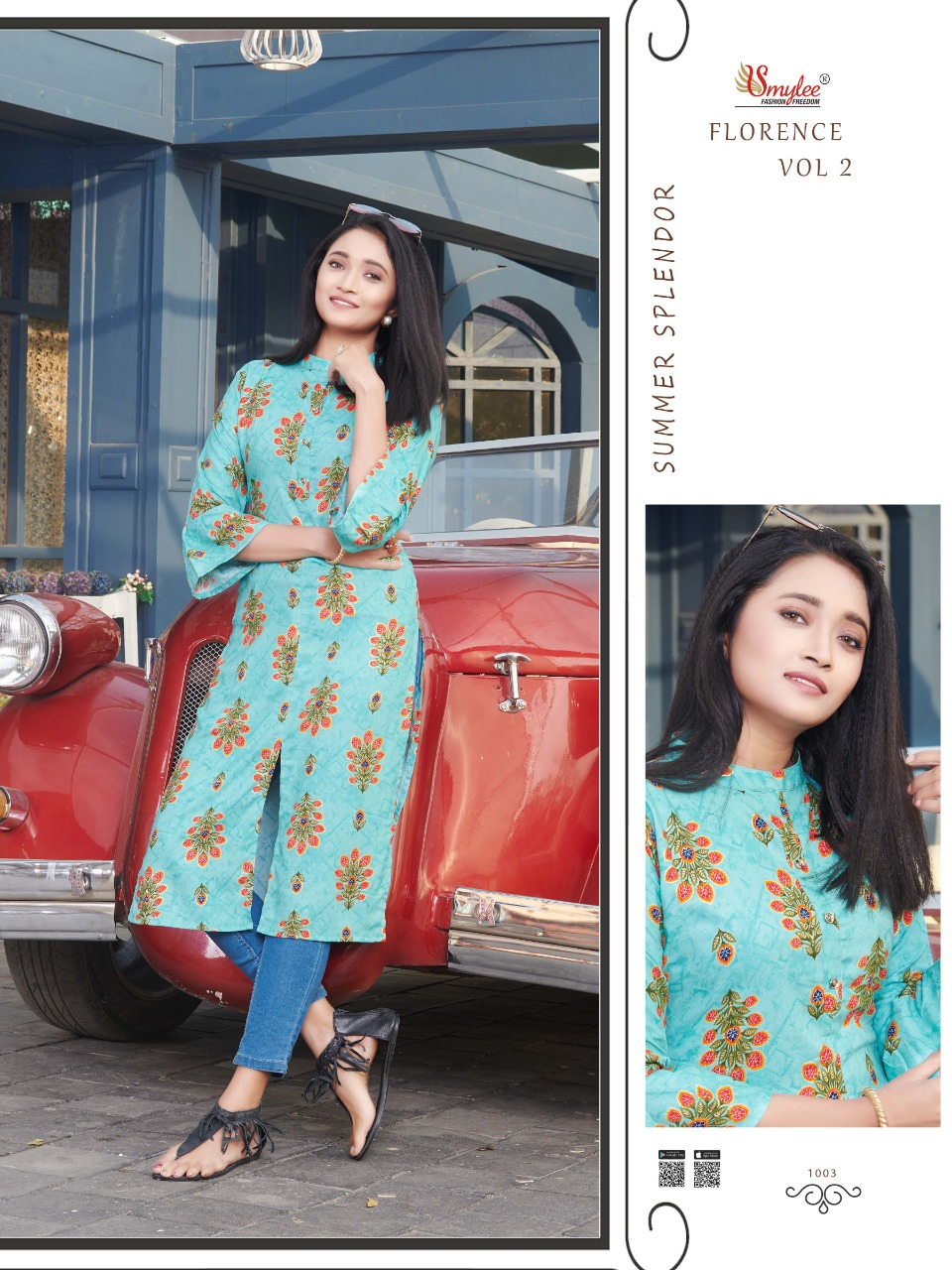 Smylee Florence Vol 2  Designer Rayon Print  Casual Wear Kurti Catalog at Wholesale rate