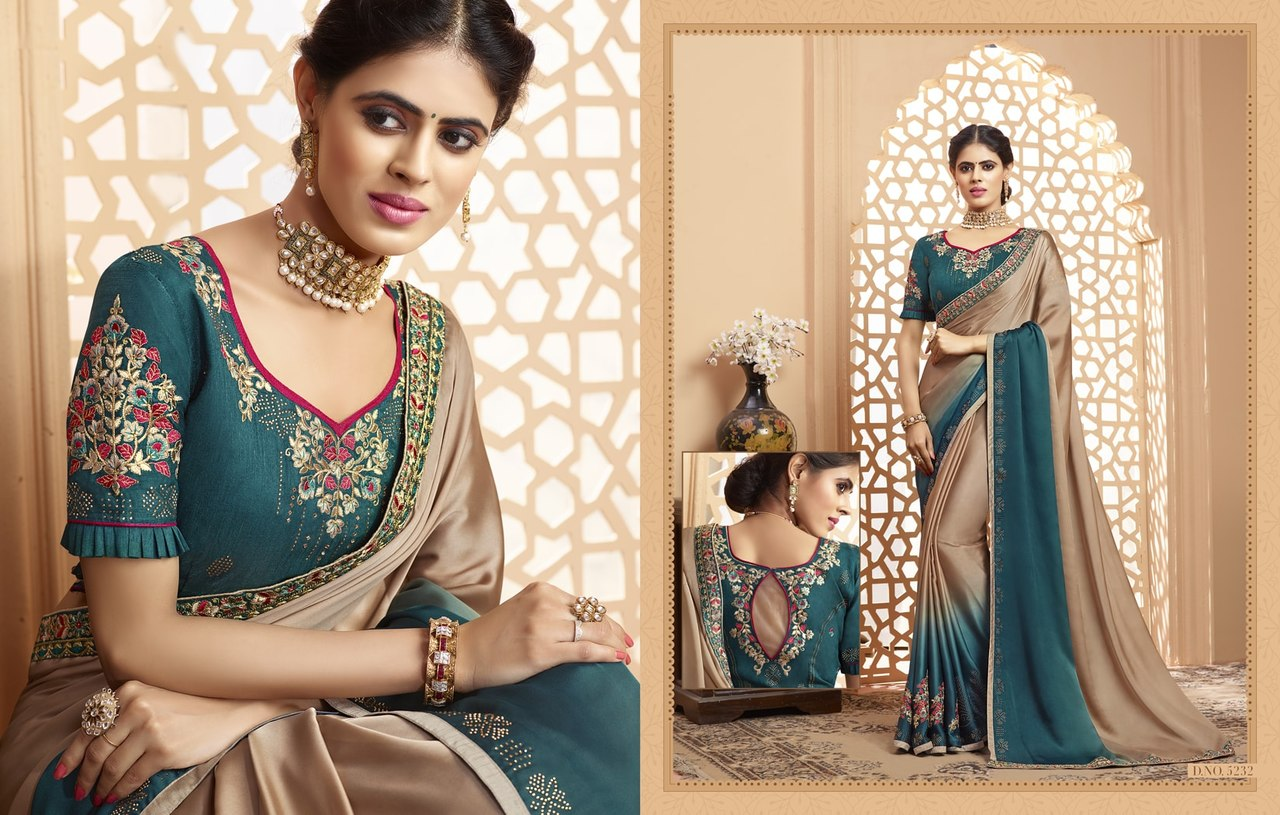 Thankar Kaavyani Designer Satin Georgette With Embroidery saree Catalog at Wholesale rate