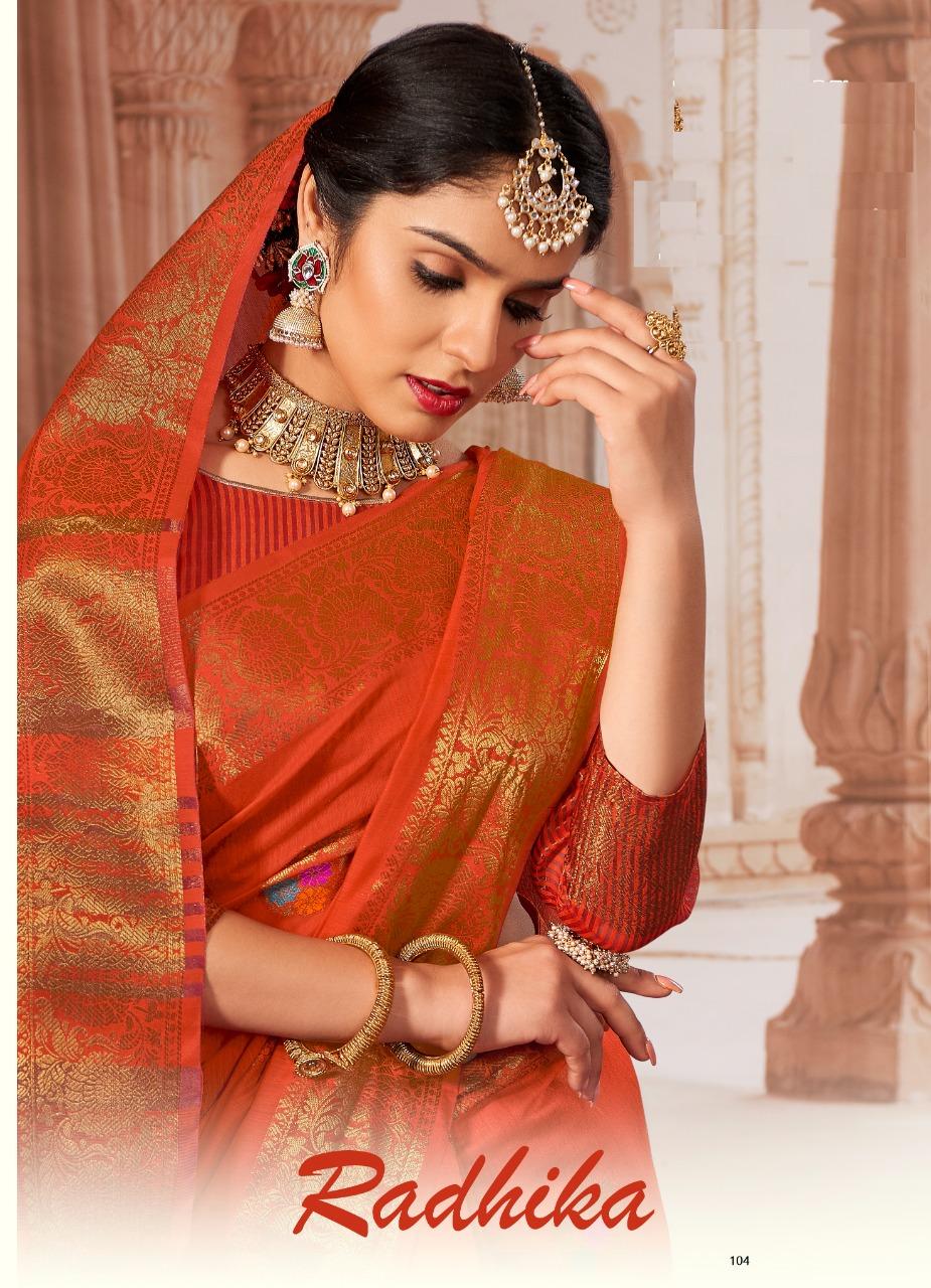 Thankar Radhika Designer Chanderi cotton Festive Wear saree Catalog at Wholesale rate