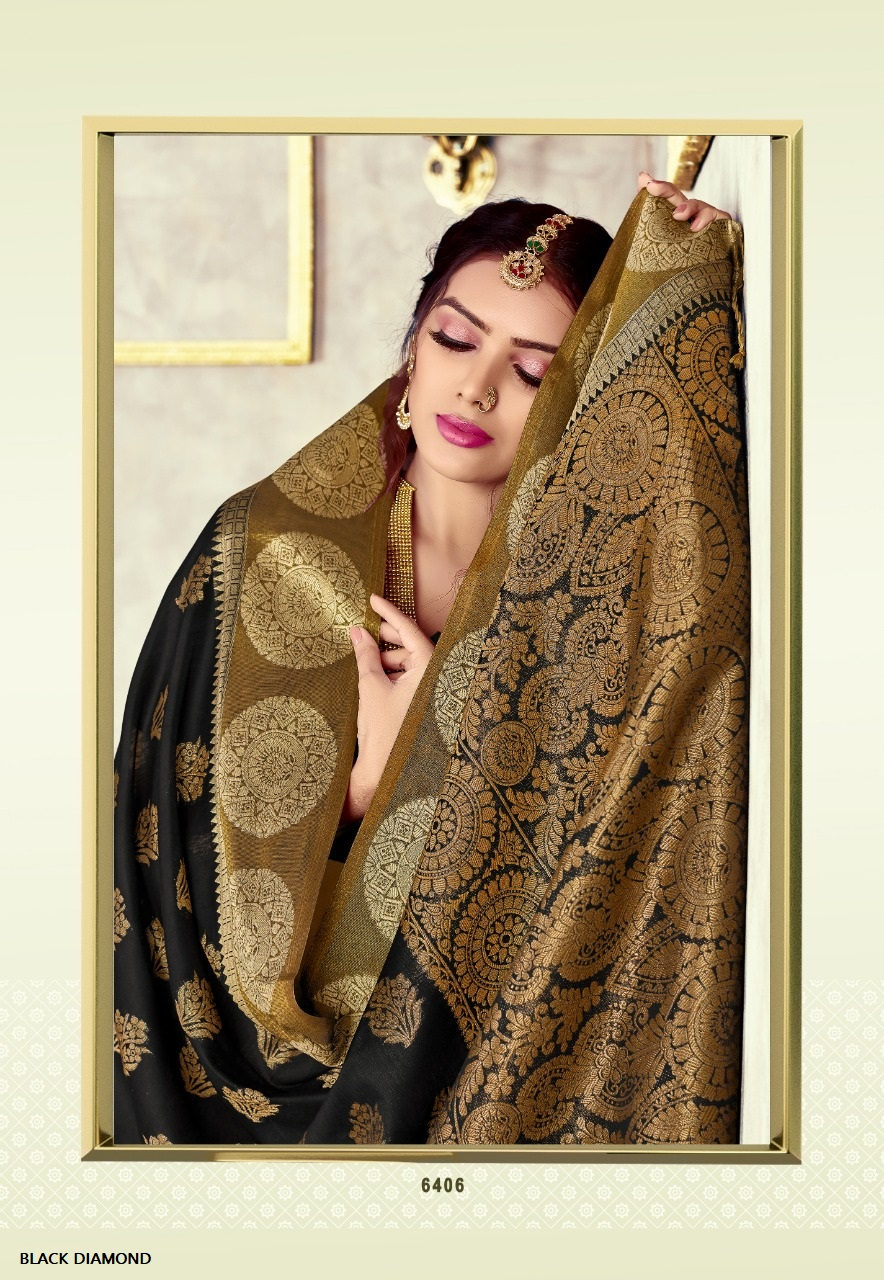 Thankar Black Diamond Designer chanderi cotton saree Catalog at Wholesale rate
