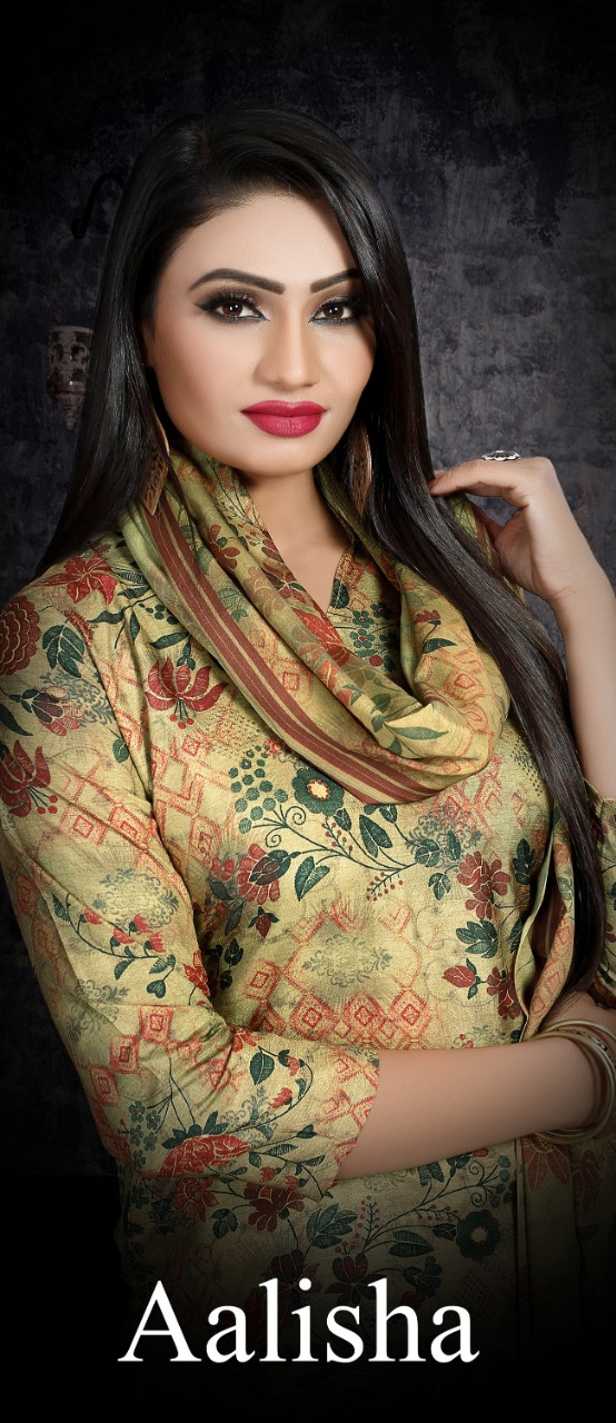 Bipson Alisha  Stylish  Tussar Silk Digital Print  Salwar Suit Catalog at Wholesale rate