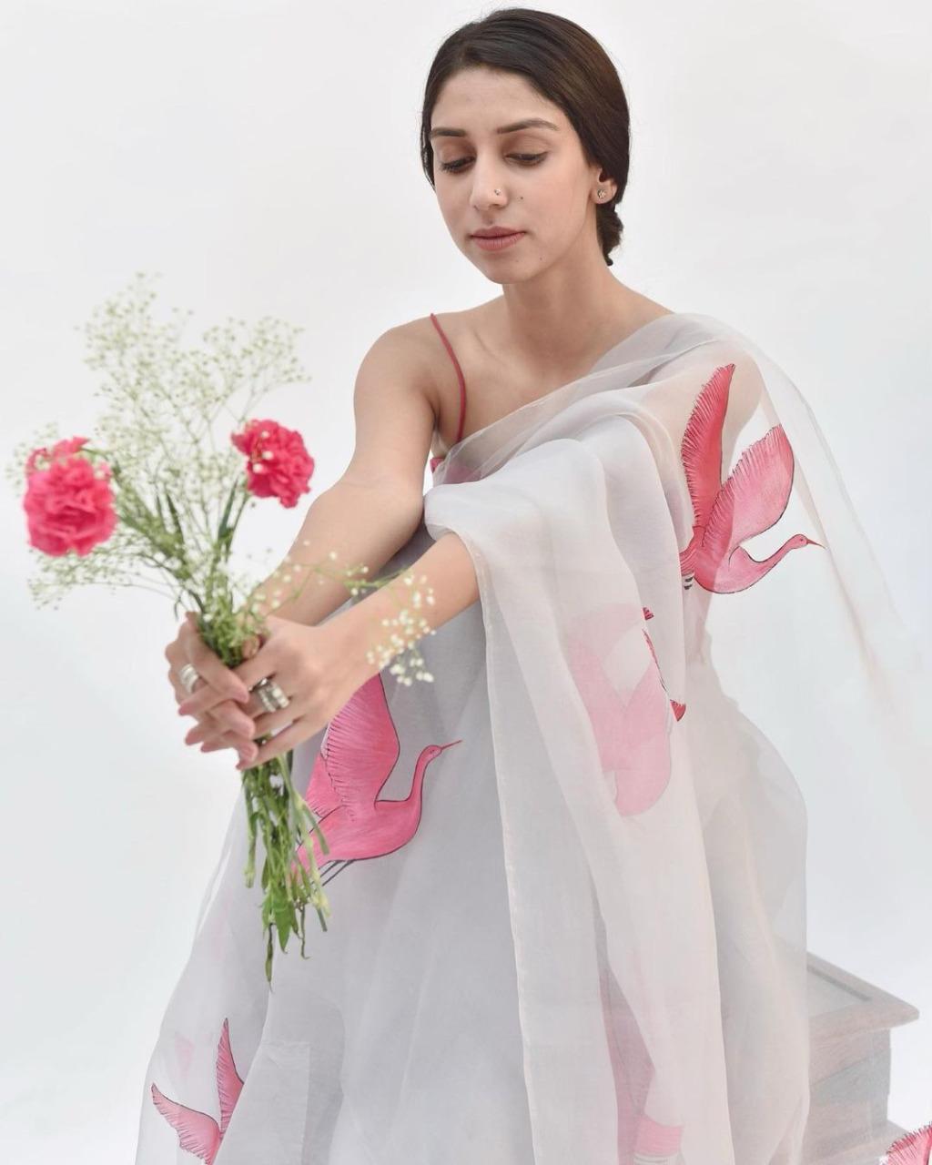 Thankar Beautiful Digital Printed Soft Organza silk saree  Catalog at Wholesale rate