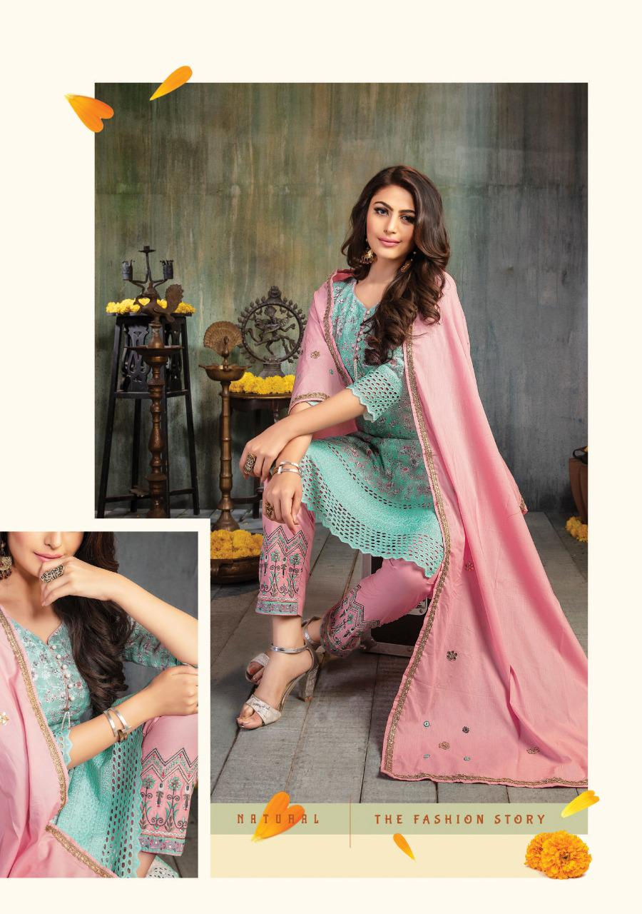 Kiana Sitara  Beautiful Schiffli Digital Print Festive Wear  Kurti Catalog at Wholesale rate
