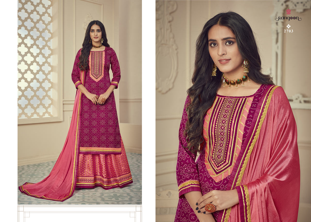 Rangoon Red Cherry Designer Jam Silk Print with Embroidery Work Salwar Suit Catalog at Wholesale rate