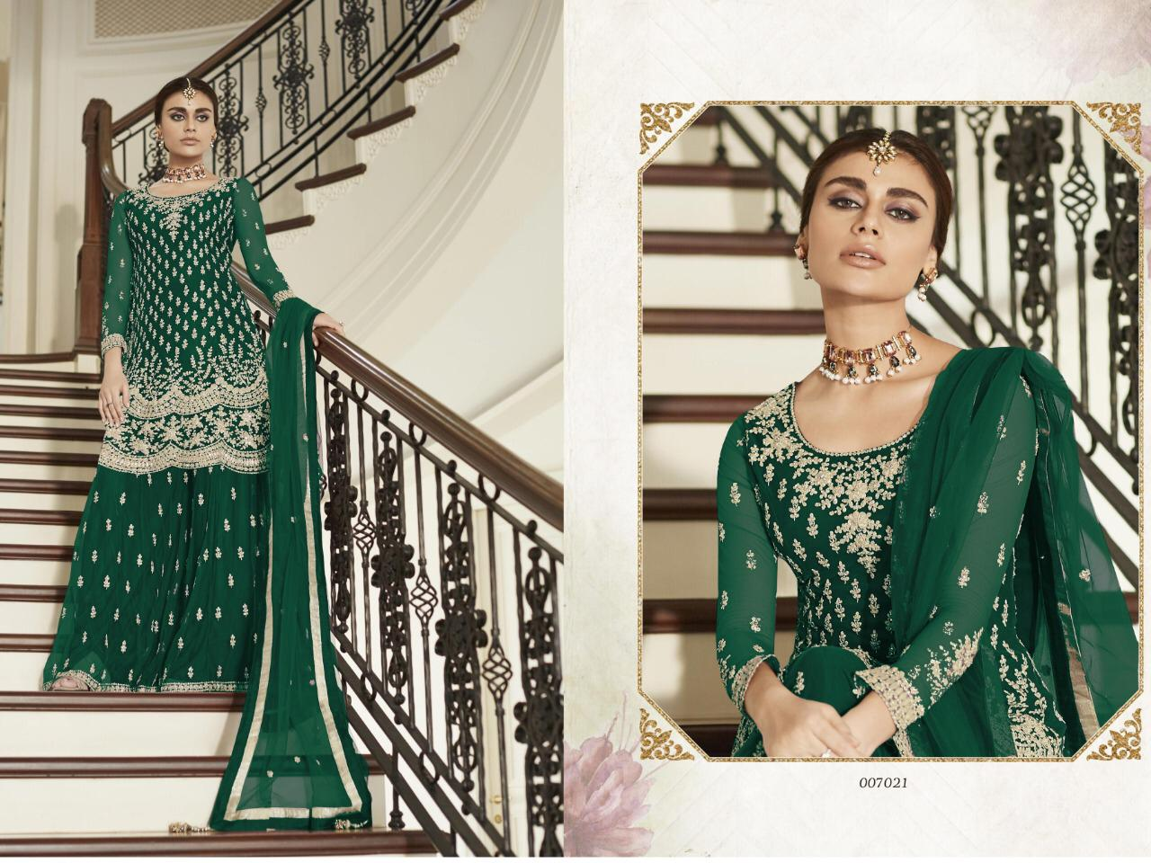 AS:-007021 Designer  Heavy Net With Coding Embroidery work Wedding Salwar Suit Catalog at Wholesale rate