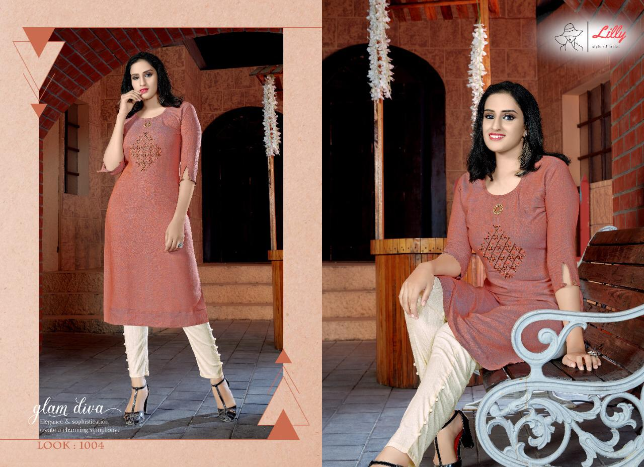 Lily Pant House  Designer Pure Rayon 16 kg Handwork & Embroidered  Kurti Catalog at Wholesale rate