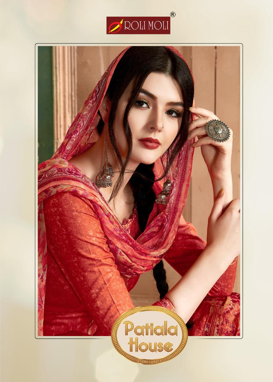 Roli Moli Creation Patiyala House Designer Cambric Negative Print Patiala Salwar Suit Catalog at Wholesale rate