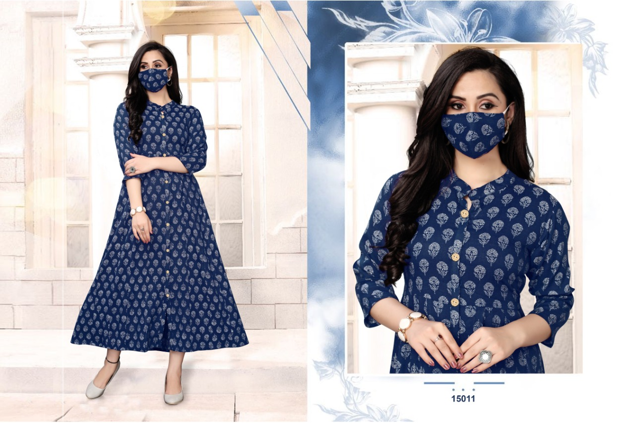 Neeti Netanya Vol 4 Designer Rayon Print Anarkali Kurti Catalog at Wholesale rate
