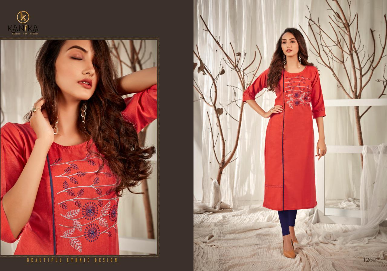 Kanika Aditi Vol - 8 Designer Ruby Silk with Embroidery Work Kurti Catalog at Wholesale rate