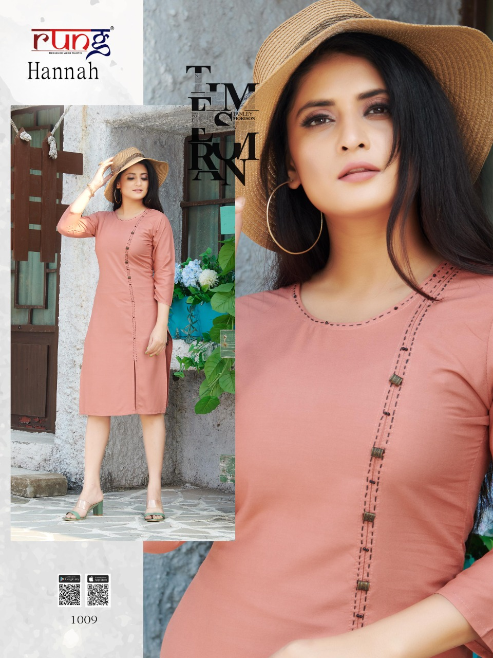 Rung Hannah Beautiful Heavy Rayon Casual Wear Kurti Catalog at Wholesale rate