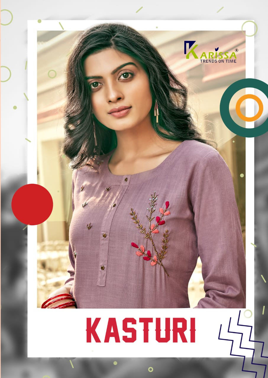 Karissa Kasturi Designer Rayon Slub Khatali work & Handwork Kurti Catalog at Wholesale rate