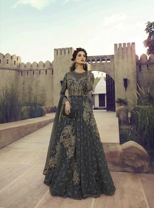 Sampann 5505 Designer Net Embroidered Salwar Suit Catalog at Wholesale rate