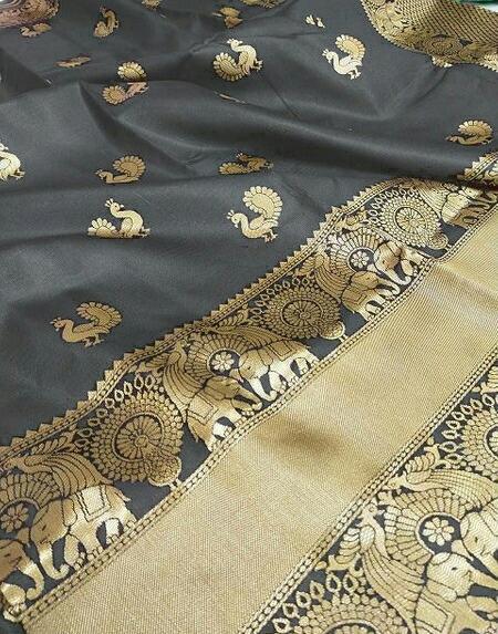 Thankar Peacoke Butti  Beautiful Banarasi   Weaving Soft Silk  Saree Catalog at Wholesale rate