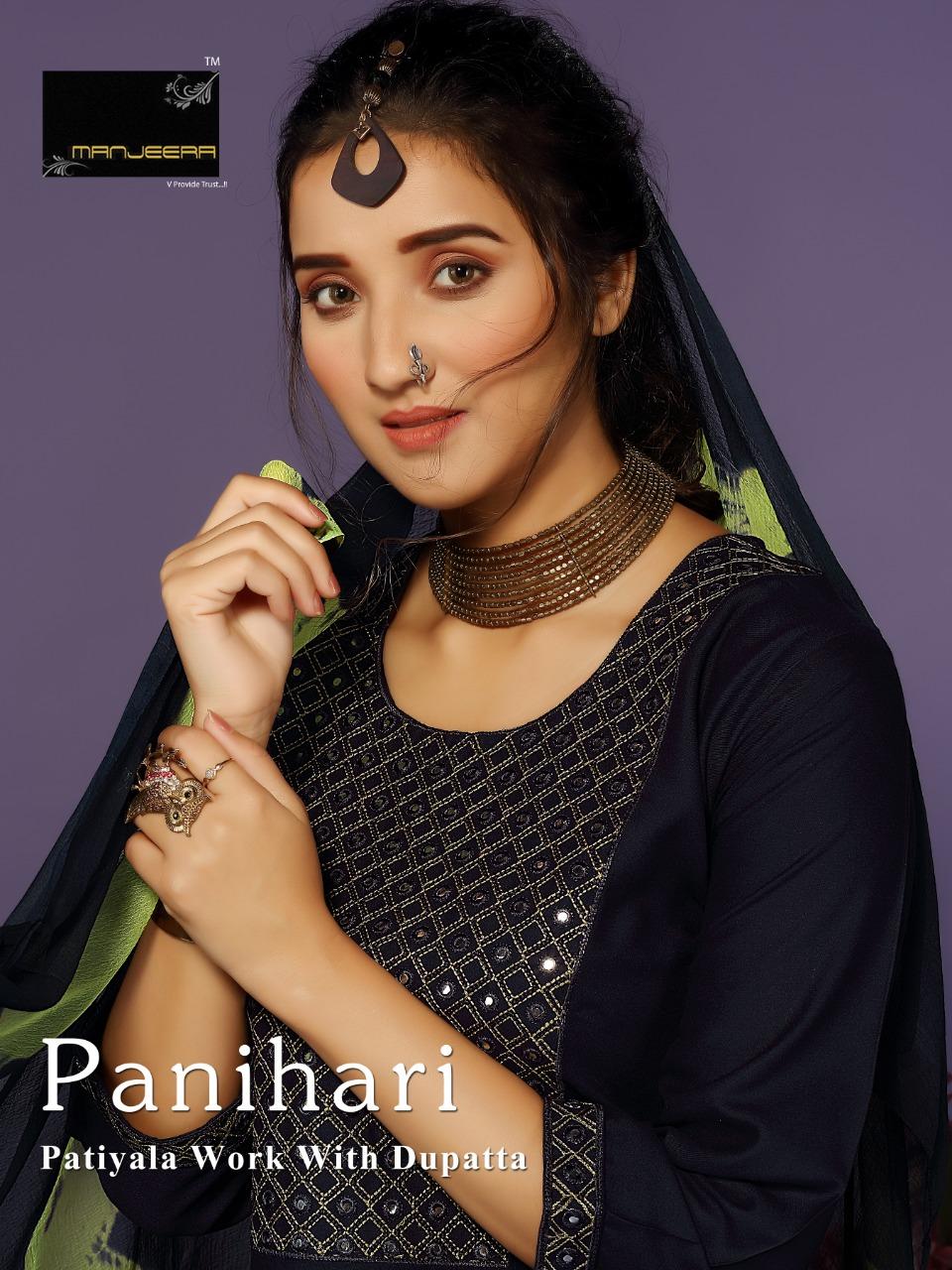 Manjeera Panihari  Designer Rayon Festive Wear Patiala Suit Catalog at Wholesale rate