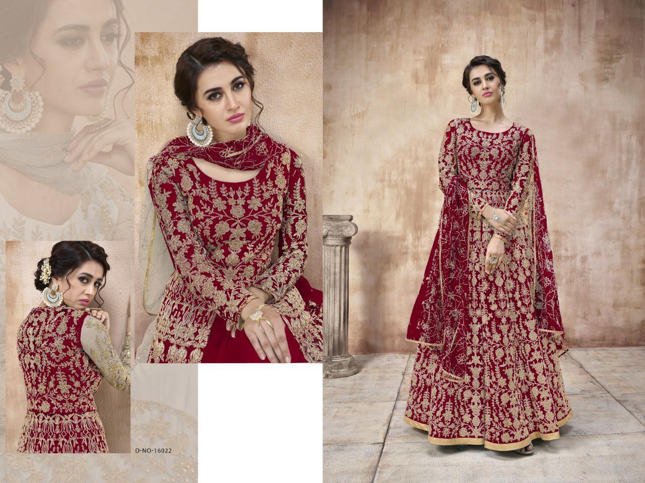 Thankar K. No:-  16022 Designer Net Cording Work Wedding Suit  Catalog at Wholesale rate