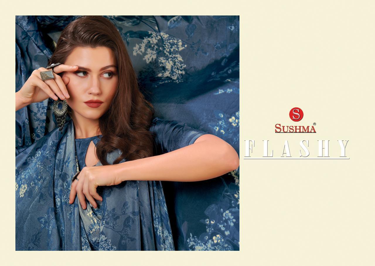 Sushma Flashy  Beautiful Crepe Festive Wear Saree Catalog at Wholesale rate