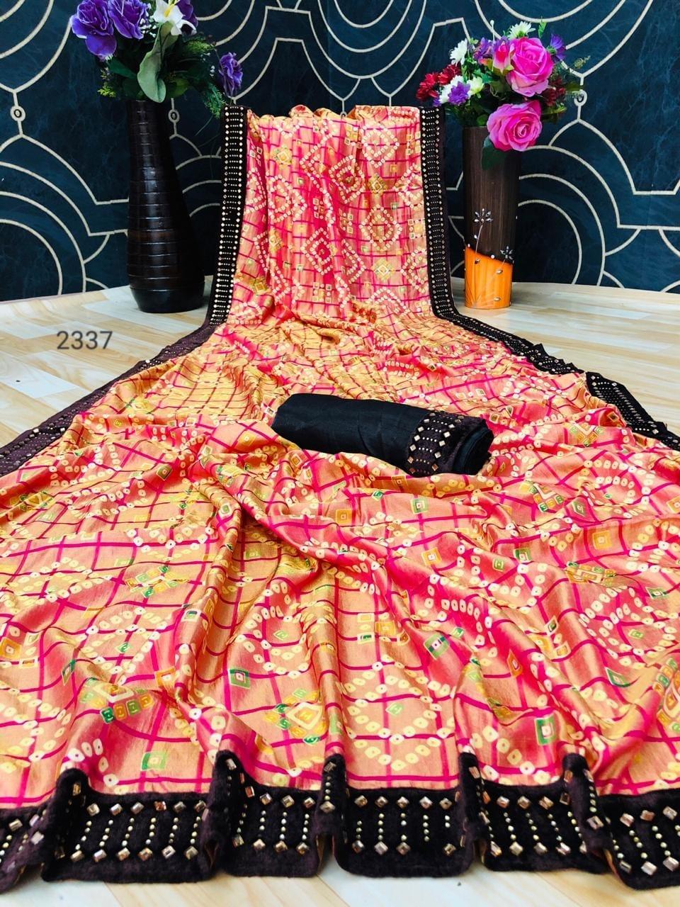 Thankar Design 2337 Designer Jeni Cheeks Print Festive Wear Saree Catalog at Wholesale rate