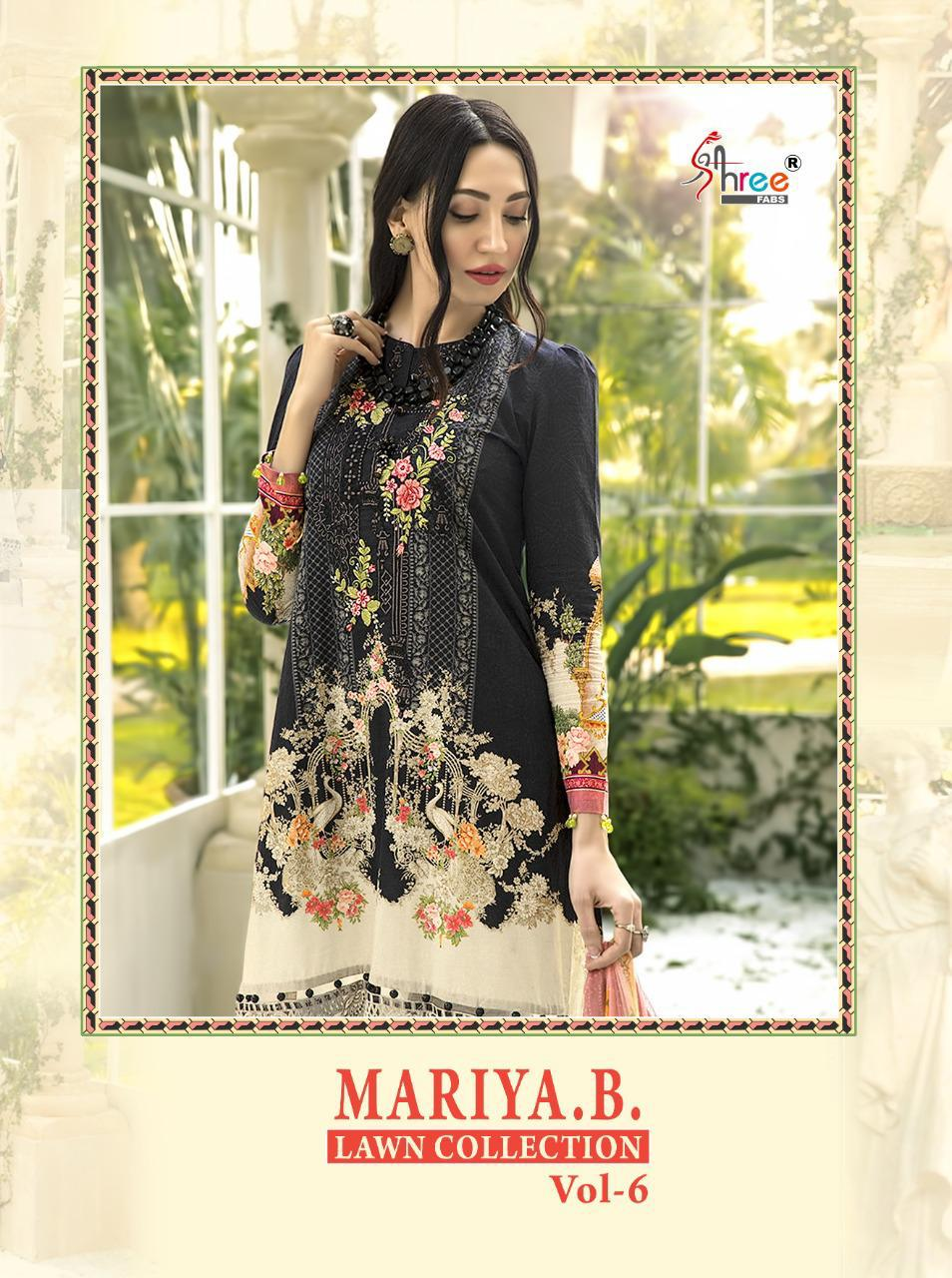 Shree Fab Mariya B Lawn Collection Vol 6 Designer Jam Cotton Print & Embroidered   Pakistani Suit Catalog at Wholesale rate