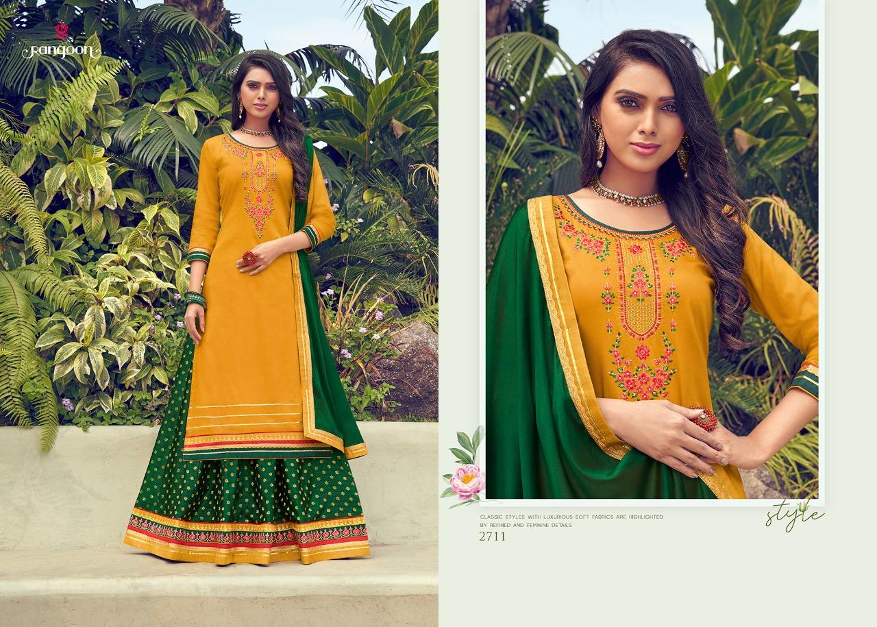 Rangoon Apsara Vol 2 Designer Jam Silk Embroidered Wedding  Suit Catalog at Wholesale rate