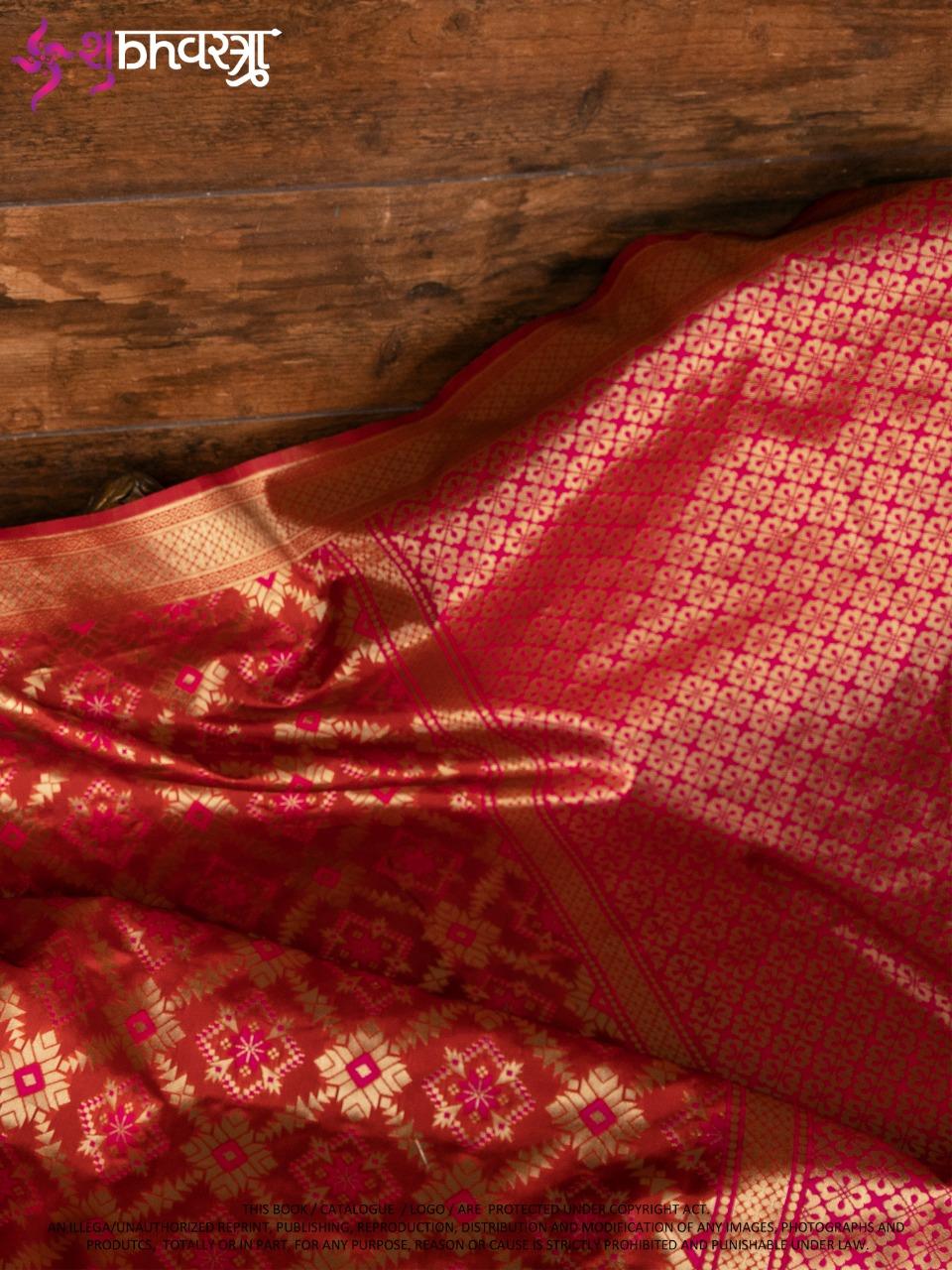 Shubh Vastra Patola Vol 3 Designer Banarasi Silk Patola Style Wedding Wear Saree Catalog at Wholesale rate
