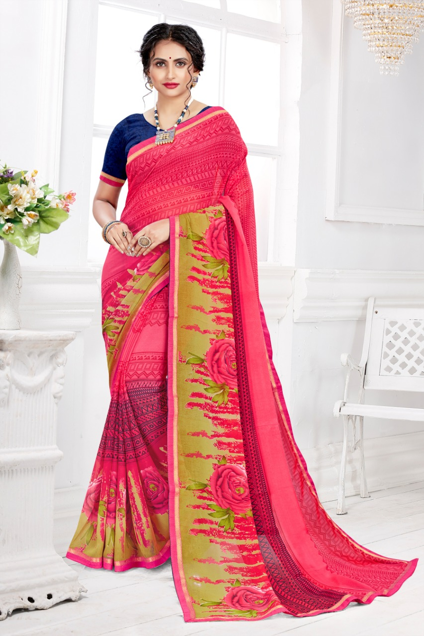 Thankar Vatika Designer Georgette Casual Wear Saree Catalog at Wholesale rate