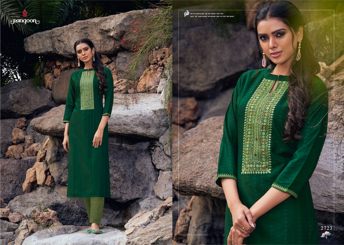 Rangoon Light Line Vol 5 Designer Fancy lining Silk Kurti Catalog at Wholesale rate