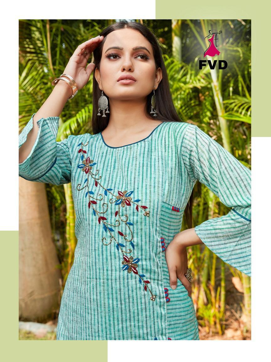 FVD City Girl 2 Designer Khadi Cotton Handwork  Kurti Catalog at Wholesale rate
