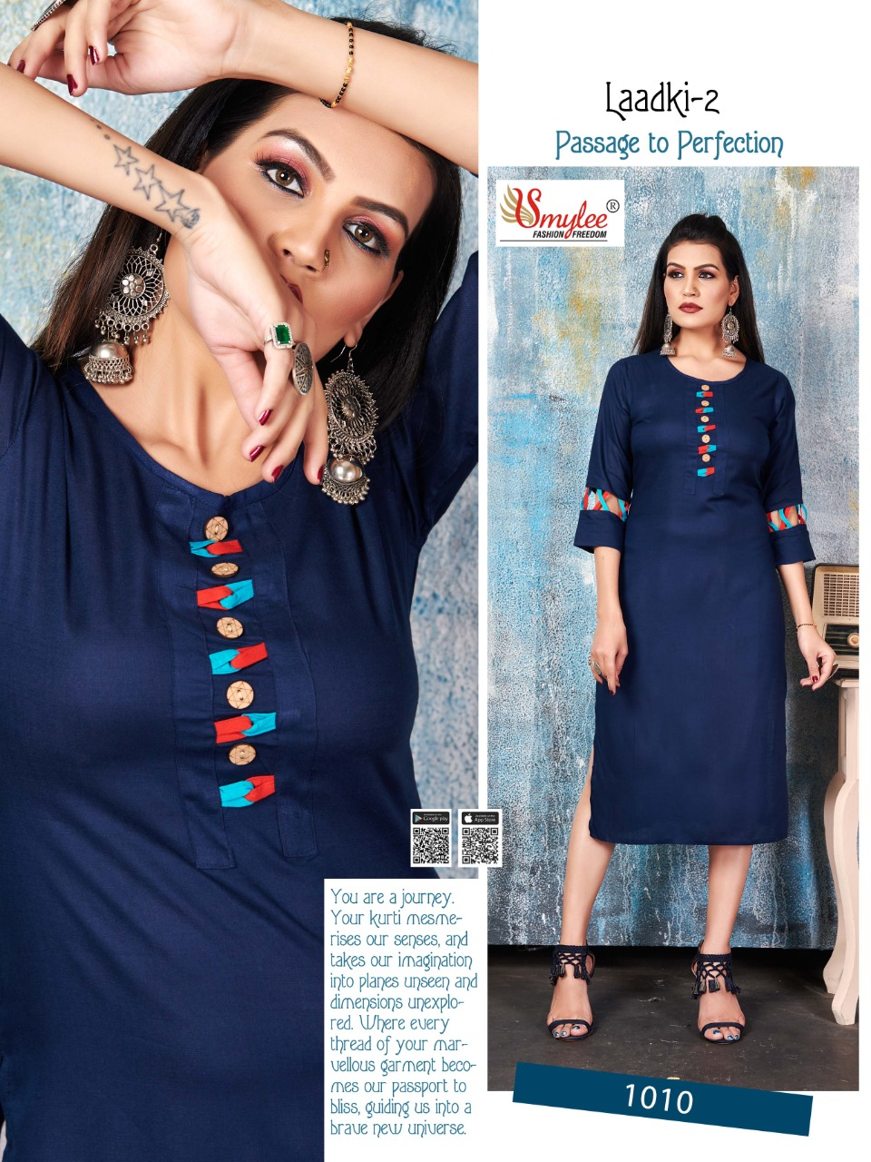Smylee Laadki Vol 2  Designer Heavy Rayon  Kurti Catalog at Wholesale rate