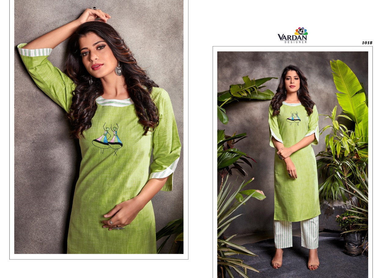 Vardan Designer Spark Vol-1  Beautiful South Cotton Handwork & Embroidered Catalog at Wholesale Rate