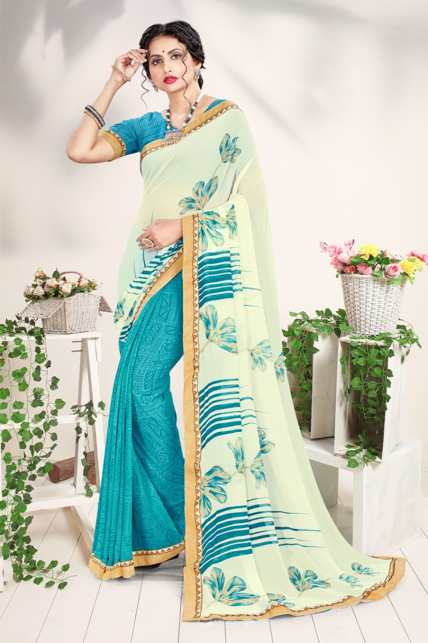 Thankar Rose Valley Designer Georgette Festive Wear saree Catalog at Wholesale rate