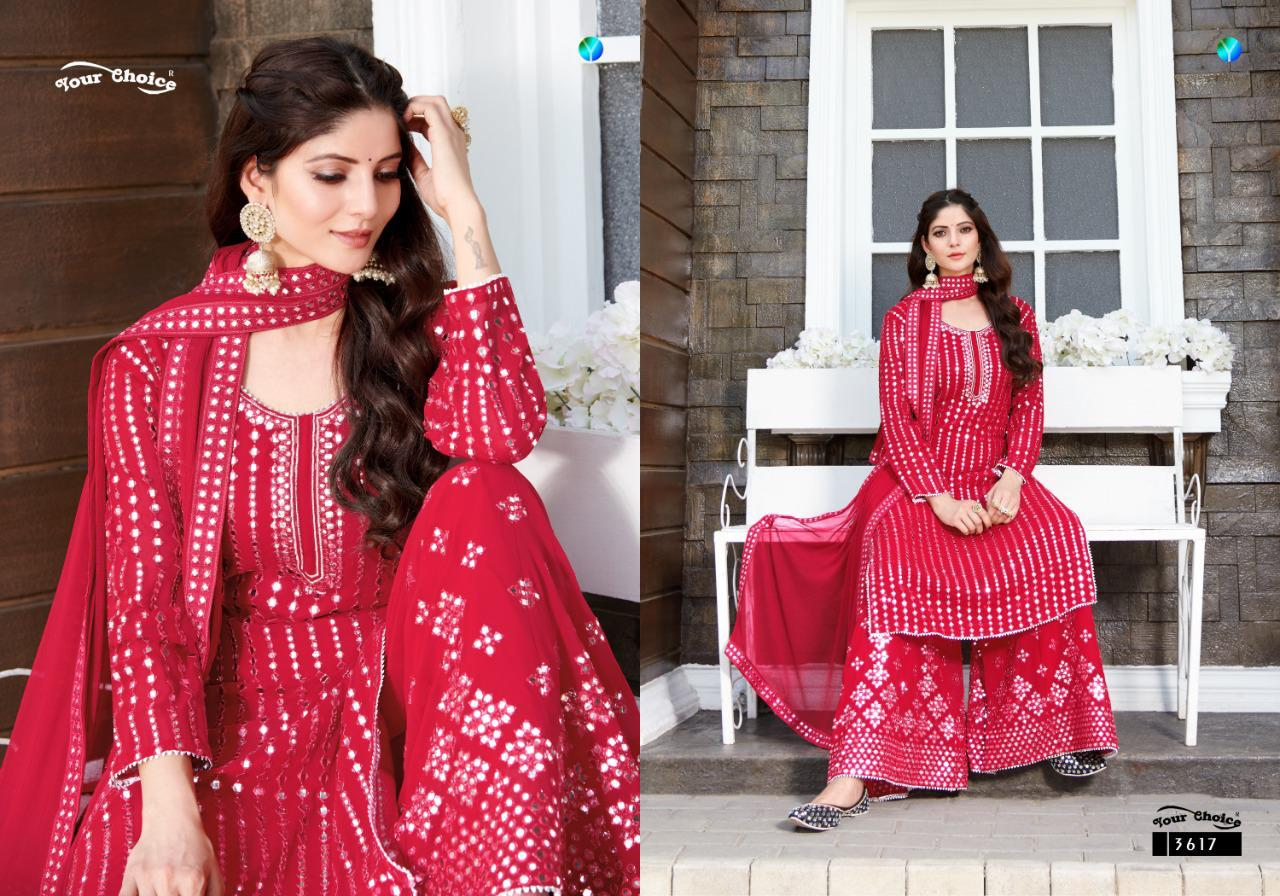 Your Choice Galaxy Beautiful Blooming Georgette Salwar Suit Catalog at Wholesale rate