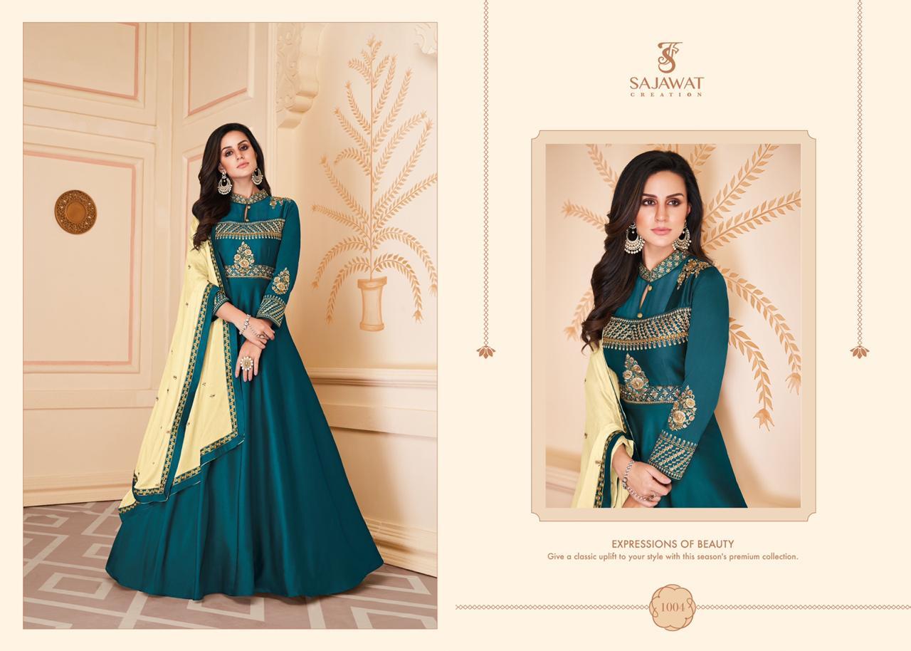 Sajawat  Shiphora  -1 Designer Heavy Soft Silk Salwar Suit Catalog at Wholesale Rate