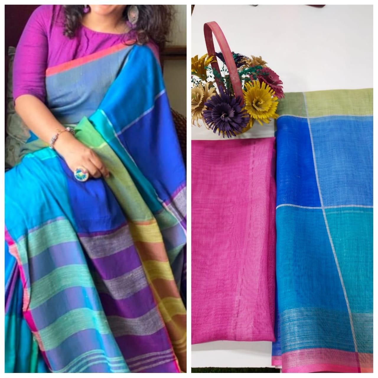Thankar Designer Designer Original Linen Digital Print  saree Catalog at Wholesale rate